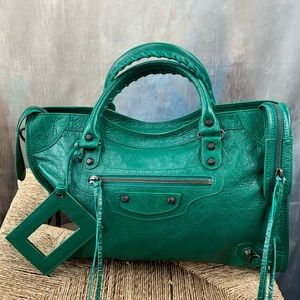 Balenciagia Medium City Leather Satchel
